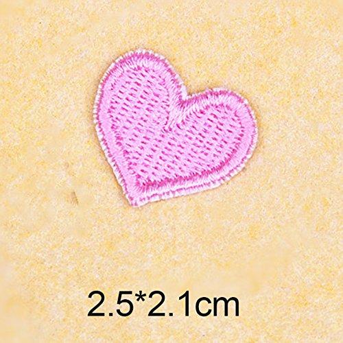 Stickerei-Applikationsset, verschiedene Größen, Dekoration, zum Aufnähen für Kleidung, Accessoires, 1 Stück, rosa herz, 7# -