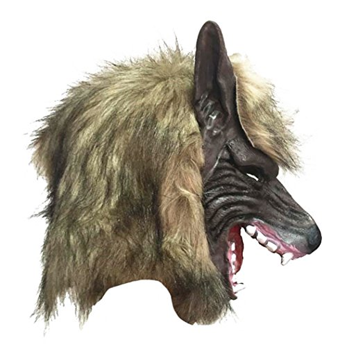Friended Halloween Horror Savage Wolf Kopf Maske Masquerade Flauschige Kopfbedeckung (Savage Maske)