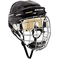 Bauer Eishockeyhelm 4500 Combo mit Gitter - Casco de Hockey Sobre Hielo, Color Negro, Talla l