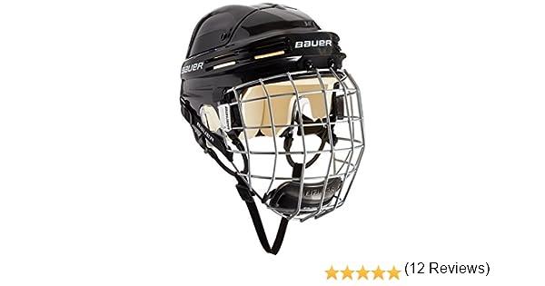 con griglia e Protezione per Il Mento Prodotto Certificato Bauer Casco da Hockey su Ghiaccio 4500 Robusto e Stabile Sia per Adulti Che per Bambini