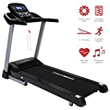 Charles Bentley Deluxe Motorised Electric Folding Auto Incline Treadmill Running Machine 4HP (Peak) 2625W 18KM/H (Max Speed) Includes 12 Workout Programs And 12 Month Warranty
