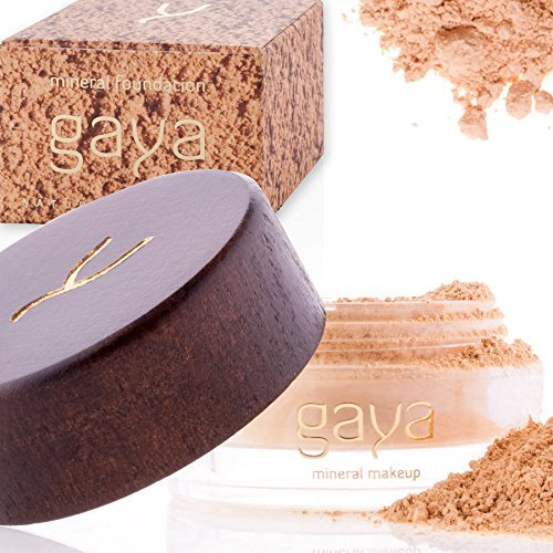 Gaya Cosmetics Foundation Make Up Puder - Vegan Mineral Professionelle Natürliche Full Coverage Foundation Makeup Powder (Schattierung MF2) - Rein Natürliche Mineral-make-up