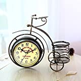 XTXWEN Dreirad Uhr, Vintage Iron Watch, Kreative Doppelseitige Uhr Handwerkskunst, Zifferblatt Durchmesser 4,72 In