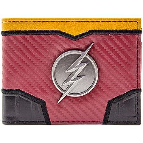 DC Flash Schick Machen Silbernes Blitz Abzeichen Rot Portemonnaie Geldbörse (Zoom Film Kostüm)