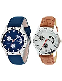 Scarter Combo Of 2 Analog Watch For Boys And Mens- S-205-211