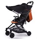 Kinderwagen Sonnenschutz mit UV Schtuz,Sonnendach Sonnensegel Kinderwagen,für Buggys und Kinderwagen (Schwarz)