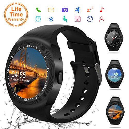 Android Smartwatch Bluetooth,Impermeable Reloj Inteligente,Bluetooth Tactil Telefono Smart Watch Sport...