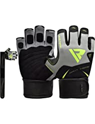 RDX Gym Weight Lifting Gloves Workout Fitness Bodybuilding Exercise Crossfit Breathable Powerlifting Long Wrist Straps Support Training