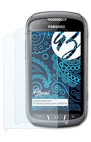 Bruni Samsung Galaxy Xcover 2 (GT-S7710) Folie - 2 x glasklare Displayschutzfolie Schutzfolie für Samsung Galaxy Xcover 2 (GT-S7710)