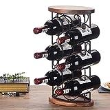 Tritow Creativo Cremagliera del vino Cremagliera del vino Decorazione Scaffale del vino in ferro battuto europeo Accatastamento del supporto del vino Decorazione del mobile del vino di modo 6 Scaffale