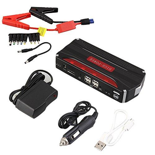 Multifunktionale 68800mAh 12V 4 USB Portable Mini Auto Starthilfe Energienbank für Notstart Chargable Batterie - Red & Black