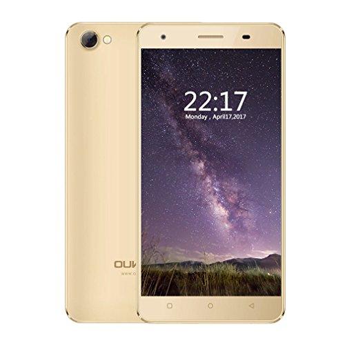 OUKITEL C5 - Smartphone 3G 5 0 pulgadas 2 GB RAM 16 GB ROM para Android 7 0 tel  fono m  vil  Oro