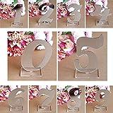 Kurphy 0-9 Anzahl Dekoration Acryl Spiegel Silber Anzahl Hochzeit Sitz Kartennummer Dekoration Hochzeit Dekoration