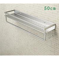 FAFZ Spazio alluminio bagno Scaffale, Bagno portasciugamani, doppio lavandino Rack ( colore : 16# )
