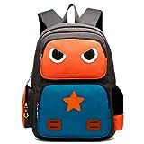 AnKoee Zaino del Bambino Sacchetto di Cartone Animato Zaino Scolastico Borsa Scuola Primaria Sveglia(Adatto per 5 a 12 anni) (Arancione / Blu)