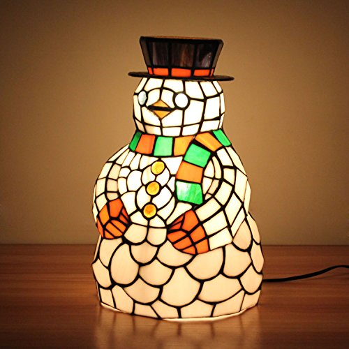 WCS Art-Schneemann-Tabellen-Lampen-Kinderlampen-Nachtlicht - 64 Tabelle Lampe