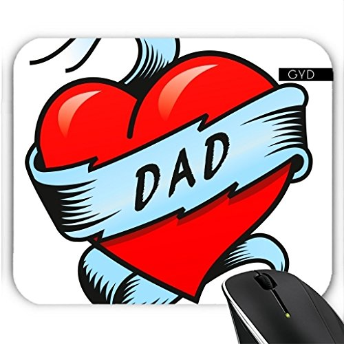 Mousepad - Dad Tattoo Herz by Carsten ()