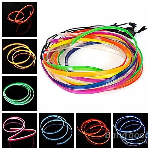 mark8shop 1m el Kalten Draht Neon Light Kleid Party Dance Festival Dekoration mit Vorschaltgerät Controller für Motor Auto -