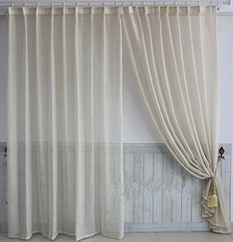 Sheer fenêtre Cross-linen de haute qualité salon Chambre à coucher Rideau de fenêtre