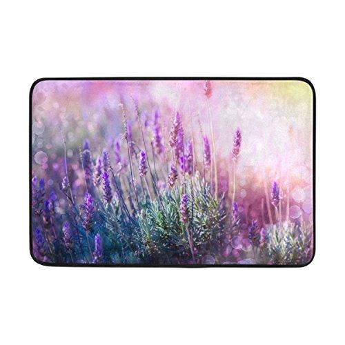 COOSUN Lavendel Blumen Feld Fußmatte von COOSUN, Eintrag Weg Indoor Outdoor Tür Teppich mit Non...