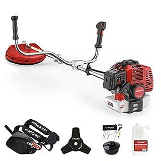 AOSOME 52cc Petrol Grass Trimmer Garden Heavy Duty Brush Cutter 2 stroke 2.2kw 3HP Easy Starter