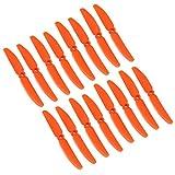 Original Gemfan 5030 5x3 Hélices 16 Pieces (8 CW, 8 CCW) Facil&co - Orange - Original & Haute Qualité 5-Pouces Quadcopter et Multirotor Drone Hélices