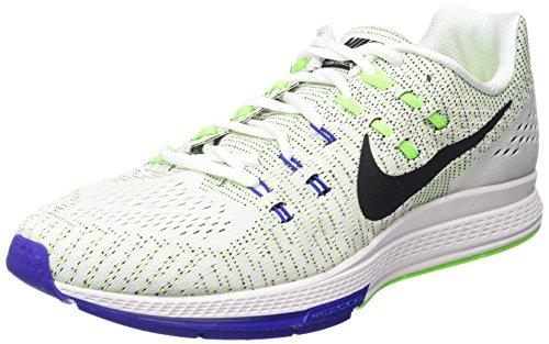Nike Air Zoom Structure 19, Scarpe da Corsa Uomo Bianco (White/Black/Electric Green/Concord)