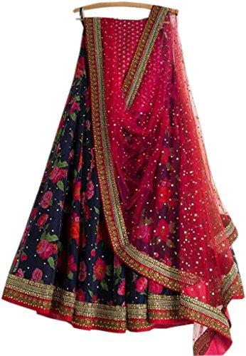 Stylevilla Women\'s Taffeta Silk Designer Wedding Ware Lehenga Choli