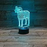 Lamm visuelle Lichter bunte Fernbedienung Lichter Cartoon Kinder Schlafzimmer Dekoration Mode visuelle Lichter Weihnachtsfeier beleuchtet Weihnachtsgeschenke
