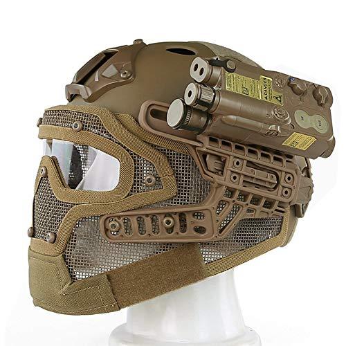 GEE STRANDING Taktischer Helm, Air Gun Paintball Schutzhelm Drahtmaske einfarbig maximale Aufprallgeschwindigkeit Wie310FPS,Green
