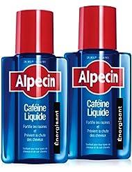 Alpecin Caféine Liquide, 2x200 ml = 400 ml - Lotion Liquide anti-chute - tonifiant