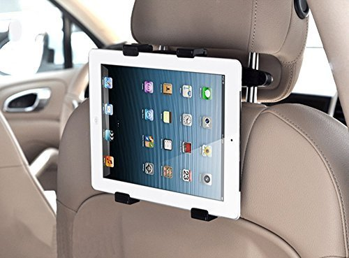 MFEEL Car Back Seat Headrest Mount Holder with 360 Degree Adjustable Rotating Travel Kit for Apple iPad 2, iPad 3, iPad 4, iPad Air, iPad Mini, iPad Mini2, iPad Mini3, Galaxy Note 10.1 - Black  available at amazon for Rs.2028