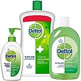 Dettol AFJST40 Sanitizer Original - 200 Ml With Handwash - 900 Ml And Multi Hygiene - 500 Ml