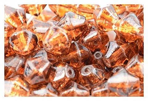 508mm Bernstein Crackle Glas, Doppelkegel,