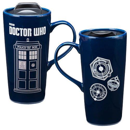 20 Unzen Flüssigkeit (Doctor Who 20 oz. Heat Reactive Ceramic Travel Mug)