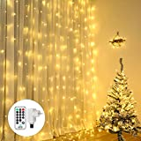 Qedertek Cortina de luces Prolongable, Guirnalda Luces Led Decorativas 3x3m 300 LED, luces...