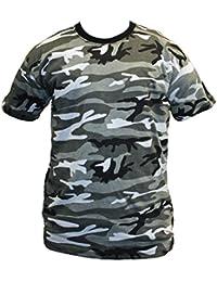T-Shirt Adultes Motif Camouflage Combat Cargo Militaire S-5XL 8 Couleurs
