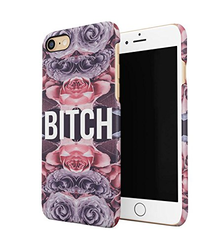 Lily Handy Snap (Bitch Red Purple Rose Pattern Durable Hard Plastic Snap On Phone Case Cover Shell For iPhone 7 Handy Hülle)