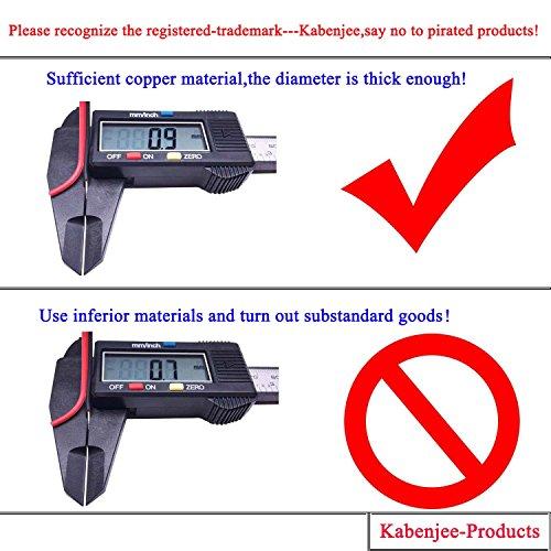 KaBenjee 2X DC 1 Buchse zu 2 Stecker 5,5×2,1mm DC Splitter Kabel Powercable DC Verteiler Kabel Stromkabel für LED Streifen,CCTV Kamera Y Splitter Kabel,DC Stromkabel DC Stromverteiler - 3