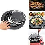WESTLINK 12' Round Portable Korean BBQ Barbecue Grill Non Stick Gas Stove Pan Plate Grillfläche,...