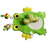 TheTickleToe Baby Tummy Time Paly Mat With 2 Toys 1 Pillow Frog Shape Rattle Baby Toys Activity Game Playmat Carpet Roller Climbing Pillow Soft Frog Mobile Plush Toy For Newborn Babies