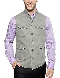 Peter England Grey Waistcoat