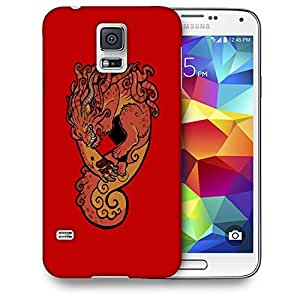 Snoogg Dangerous Monster Designer Protective Back Case Cover For SAMSUNG GALAXY S5
