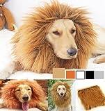 Peluca de león para mascotas, ideal como disfraz para perros y gatos