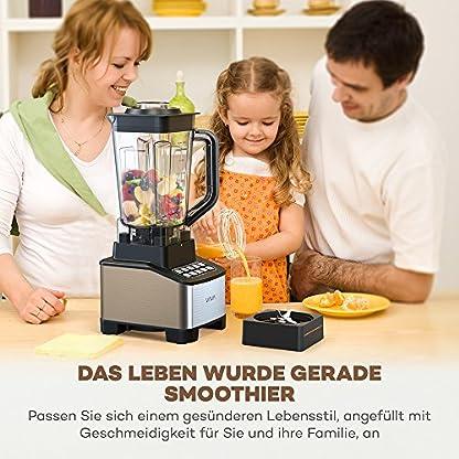 VAVA-Standmixer-Smoothiemaker-1200W-2-Liter-Behlter-und-600ml-Trinkbecher-Power-Mixer-Zerkleinerer-Ice-Crusher-BPA-Frei-Edelstahl-SchwarzSilber