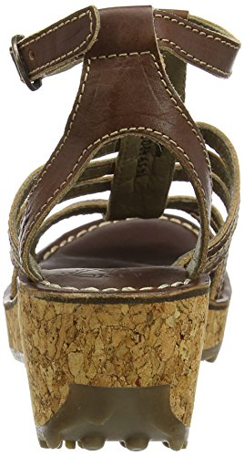 FLY London Givo942, Sandales Bride Cheville Femme Marron (Tan 001)