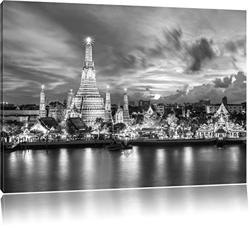 wat-arun-temple-night-view-bangkok-thailande-art-b-w-format-60x40-sur-toile-xxl-enormes-photos-compl