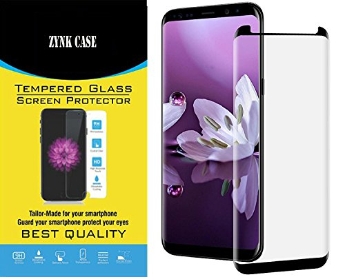 Samsung Galaxy Note 8 Screen Protector, ZYNK CASE Premium Edge-to-Edge Full Coverage Tempered Glass Screen Protector for Samsung Galaxy Note 8 (Black)