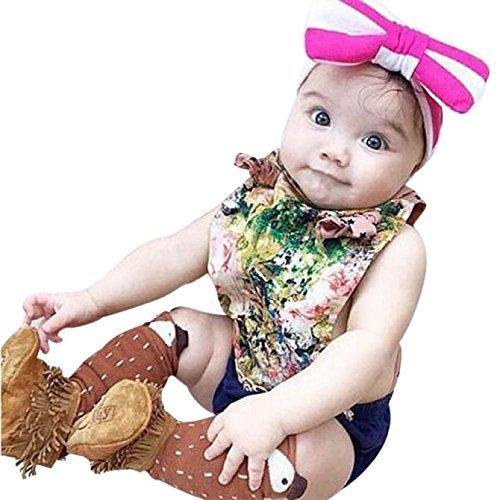 ZARU Kleinkinder Kinder Mädchen Fox Muster Kniestrümpfe (Age 1-3 Years, Kaffee)
