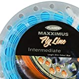 FLADEN Fishing 30m of MAXXIMUS Quality Weight Forward BLUE INTERMEDIATE FLY LINE